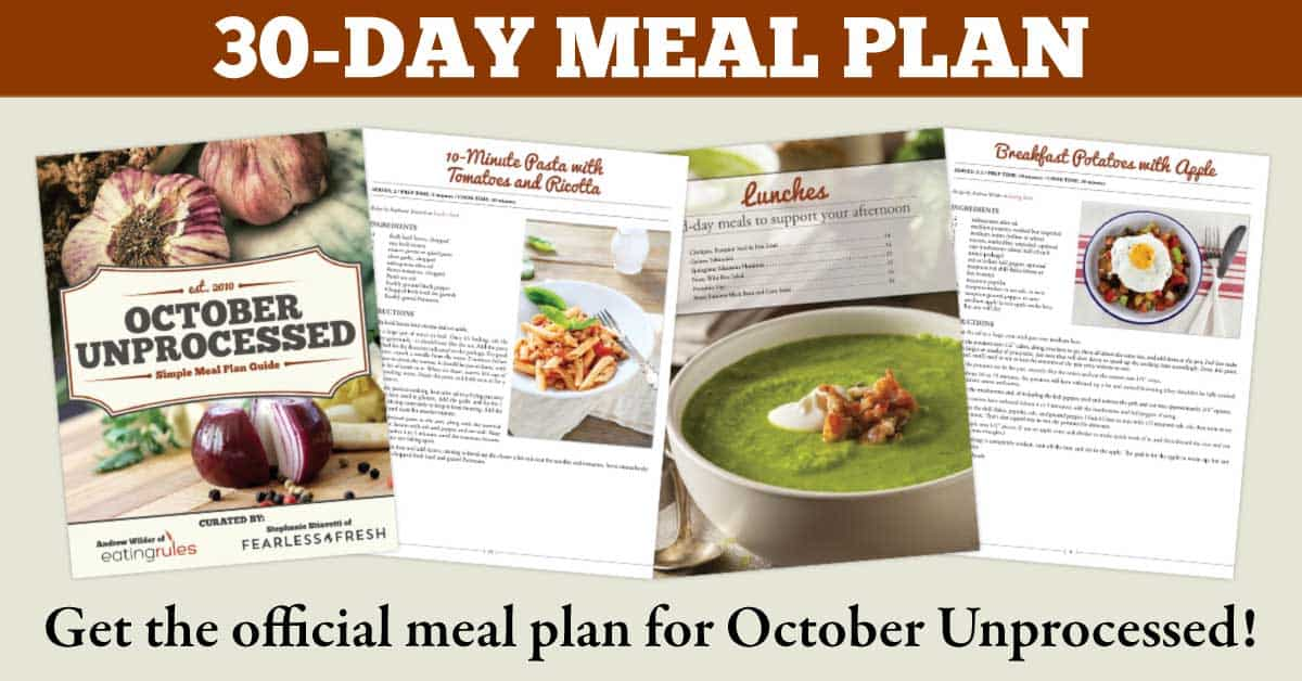 The october unprocessed simple meal plan guide forumfinder Images