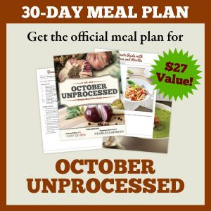 30-Day Meal Plan for October Unprocessed