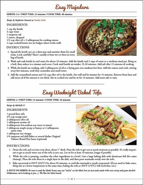 Sample Page - Dinners