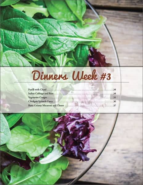 Sample Page - Weekly Menu
